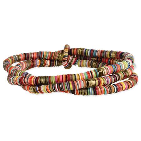 Rainbow sequins stretch bracelet, multi color slim sequins Handmade in India  Measurements:  4mm wide