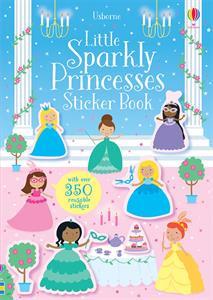 Sparkly princess stickers, book, kids, girls