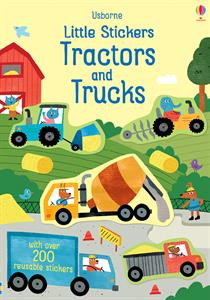 little stickers tractors and trucks, 200 + stickers, kids, boys