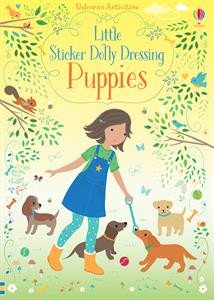 little stickers dolly dressing puppies, book, kids