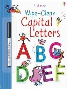 wipe clean upper case letters