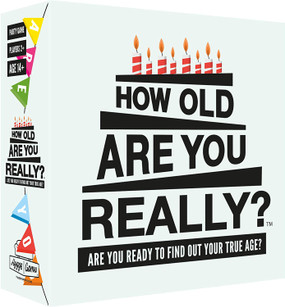 How old are you really? Game, 110 cards, 330 entertaining questions. For 2 or more players. Ages 14 and up. Box size 5. 7 x 5. 7 x 1. 8 inches.
