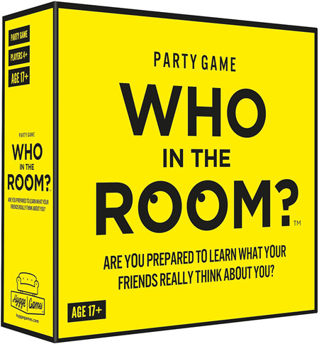 Who in the room? Game, funny, 5.7 x 5.7 x 1.8 inches, 17+ age