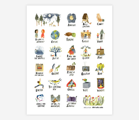 abc's of life 11x14 print,  printed on matte paper,  eleven-color high definition ink