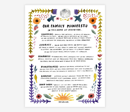 family manifesto 11x14 print, printed on enhanced matte paper, eleven-color high definition ink