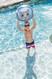 cat beach ball kid in pool