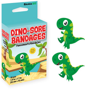 dino-sore bandages, 18 bandages, kids