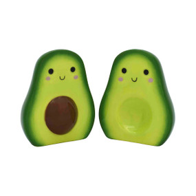 avocado salt and pepper shakers