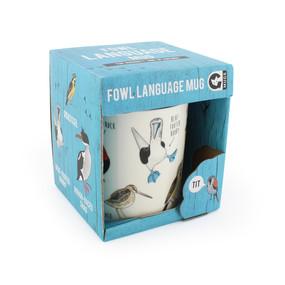 Fowl bird mug, ceramic 12 oz