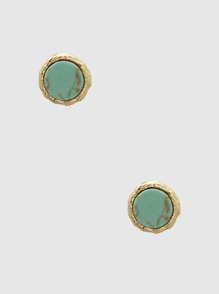 turquoise natural stone studs