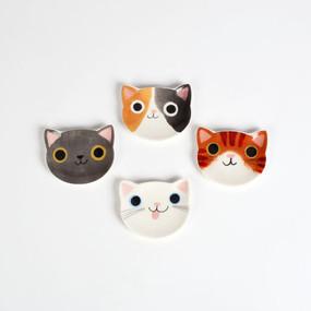 """Cat planet trinket dish, 2"""" x 2.5"""",  porcelain"""