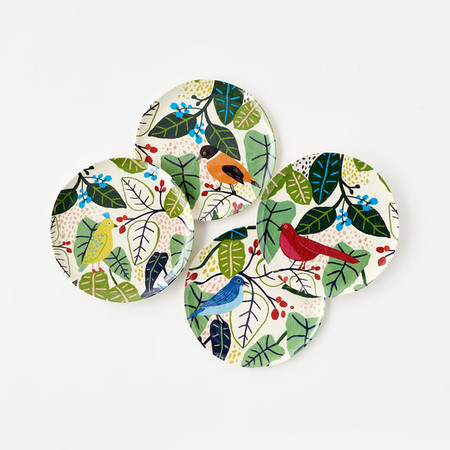 "Bird plate, Melamine, 9"""
