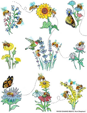 "honey bees flour sack towel, Size: 28"" x 29""."