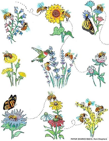 "honey bees flour sack towel, Size: 28"" x 29""."