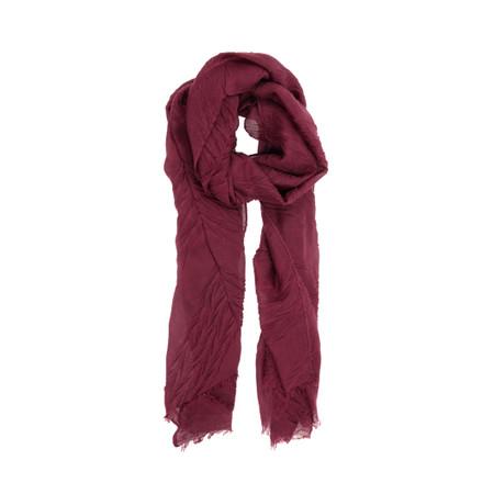 magenta fall matelasse scarf