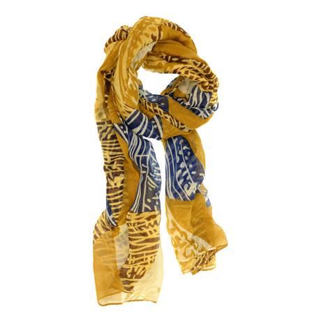 mustard fall tonal geo scarf
