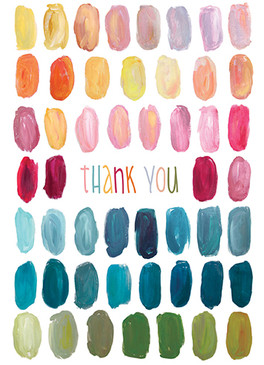color palette thank you card, recycled paper