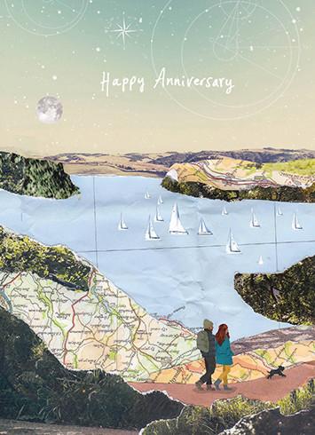 country walk anniversary card