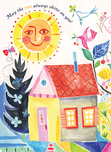 may the sun always shine on you new home card