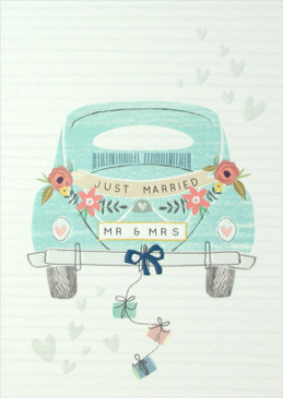 mr & mrs. wedding card