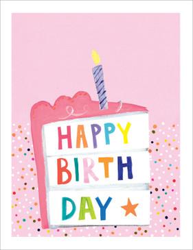 slice of cake birthday card