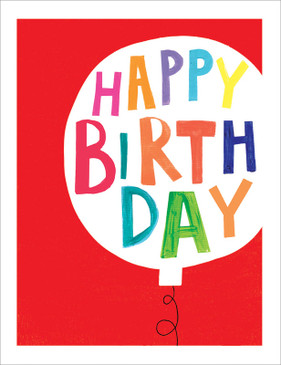 silver balloon birthday card