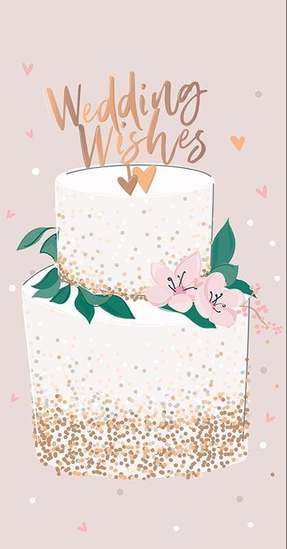 wedding cake money wallet wedding card