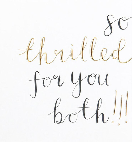 thrilled for you both wedding card