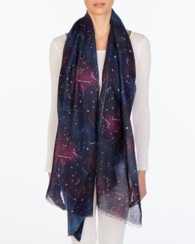 zodiac constellations scarf