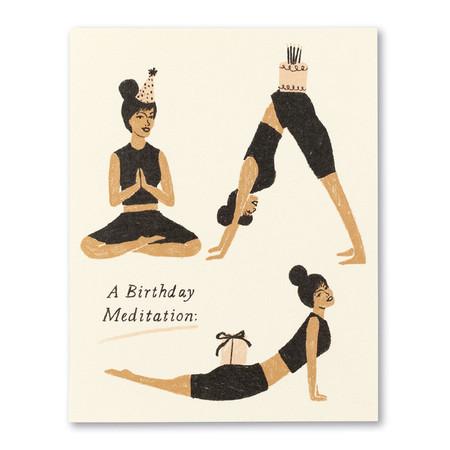 a birthday meditation card