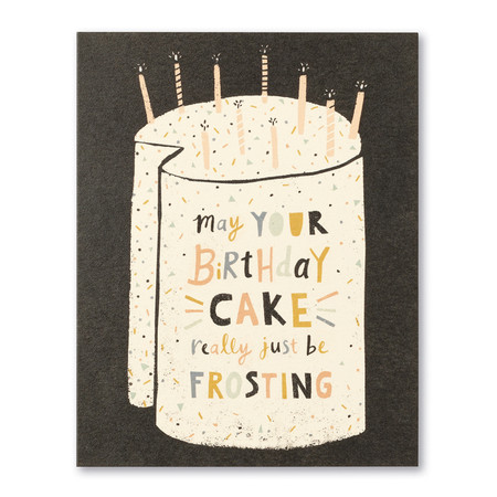 birthday cake frosting card
