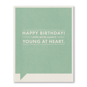young at heart birthday card
