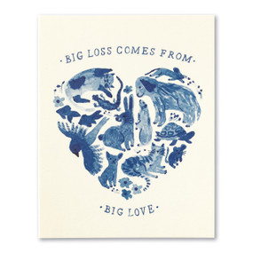 big loss big love pet sympathy card