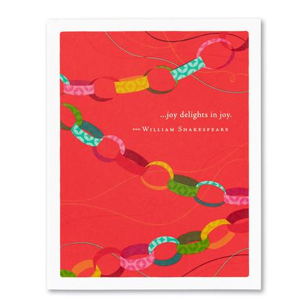 joy delights in joy birthday card