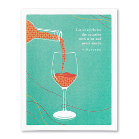 celebrate with wine birthday card