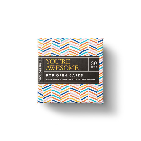 thoughtfulls - you're awesome, 30 pop-open cards