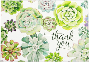 succulent garden thank you notes, front
