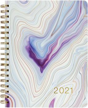 2021 blue agate desk calendar