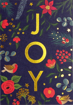 joy small boxed holiday cards