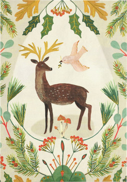 deer & dove boxed holiday cards