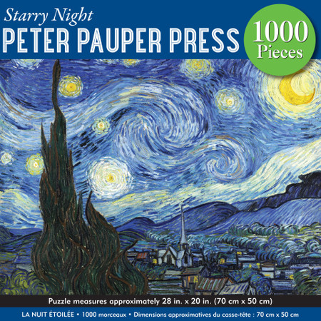 starry night jigsaw puzzle,  28'' wide x 20'' high