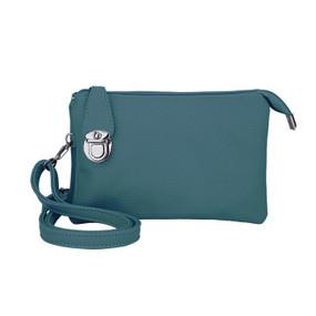multiple pocket crossbody bag, teal