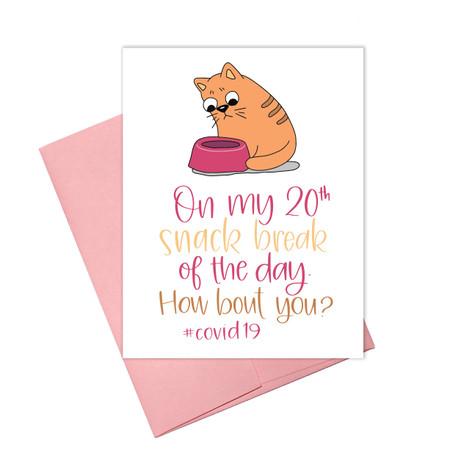 coronavirus snack break card, humorous, blank inside