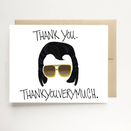elvis thank you very much thank you card