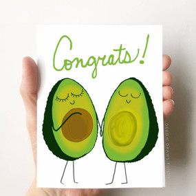 avocado congratulations pregnancy card
