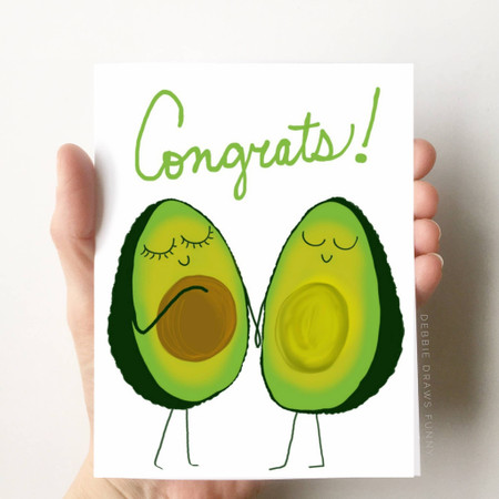 avocado congratulations pregnancy card