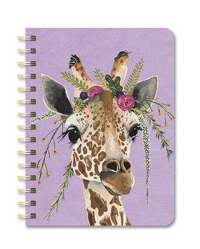 claire giraffe 2021 compact flexi planner, front cover