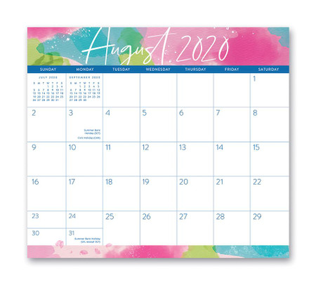 aquarelle 2021 magnetic monthly pad