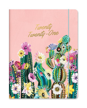 desert blossoms 2021 just right monthly planner, front cover