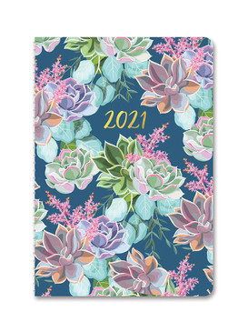 succulent garden 2021 on-time weekly planner